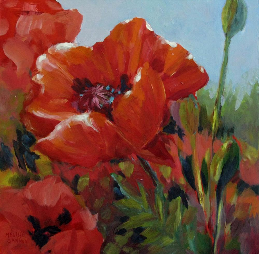"""Dance of the Poppies"" original fine art by Melissa Gannon"
