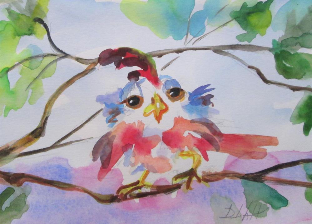 """""""Spring Bird No. 2"""" original fine art by Delilah Smith"""