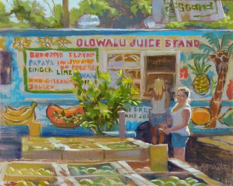 """Olawalu Memories"" original fine art by Anette Power"