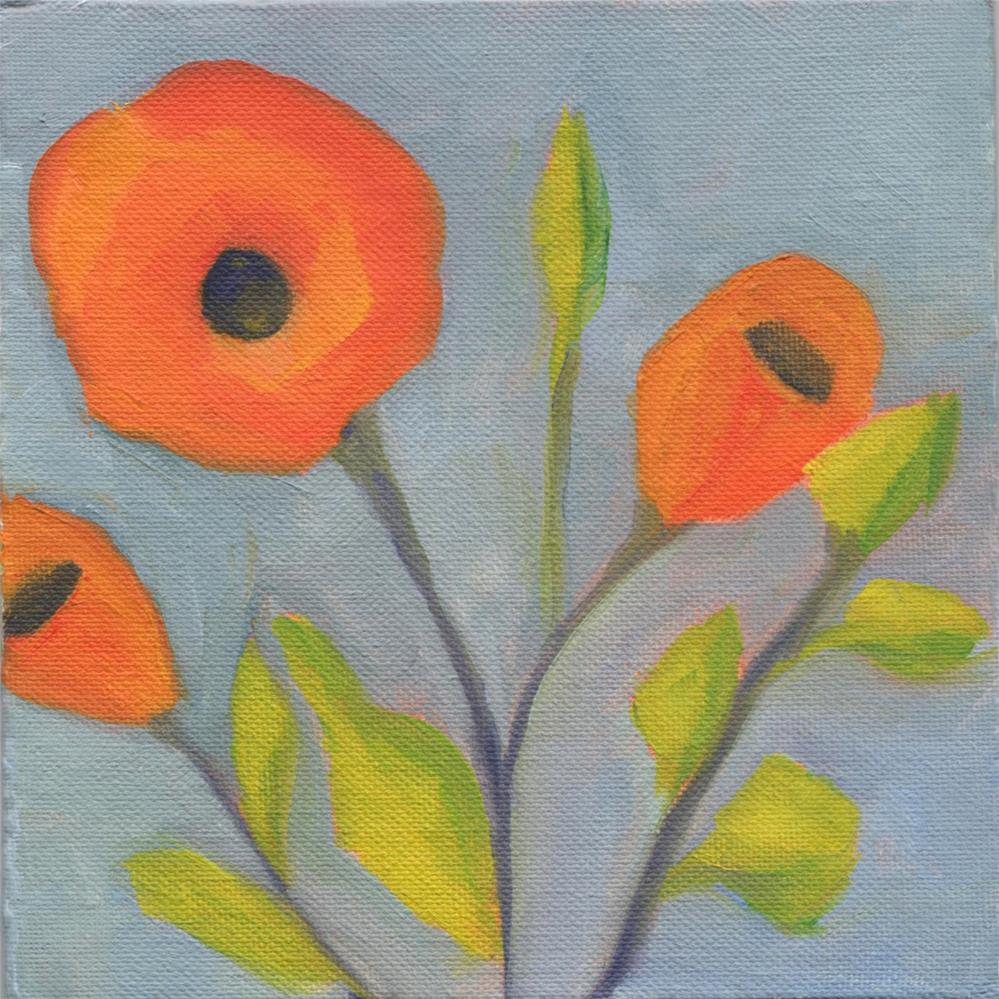 """Orange Steel Poppy"" original fine art by Susan Bertocci"