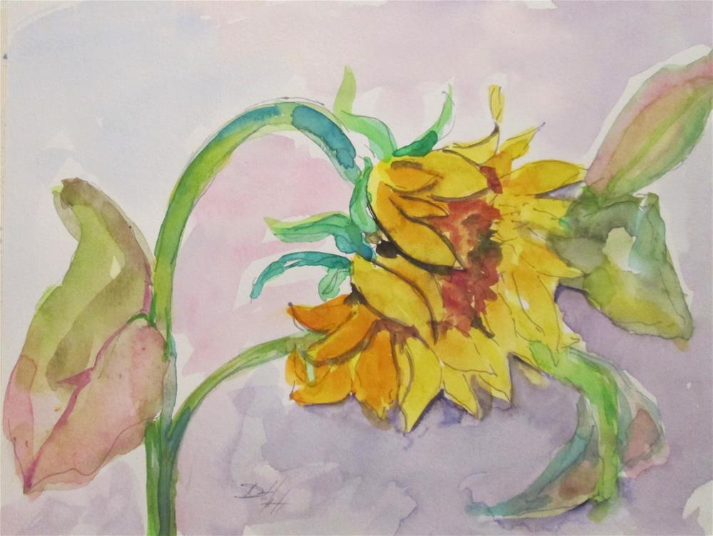 """Sunflower No. 5"" original fine art by Delilah Smith"