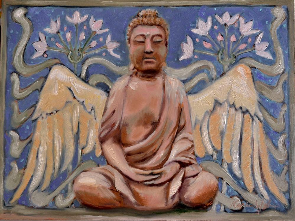 """""""Winged Buddha"""" original fine art by Karen Weber"""