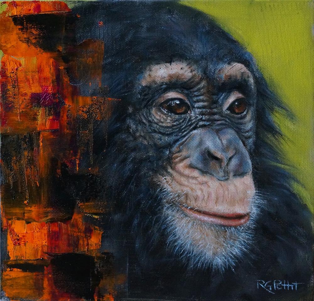 """Chimpanzee"" original fine art by Rhea  Groepper Pettit"