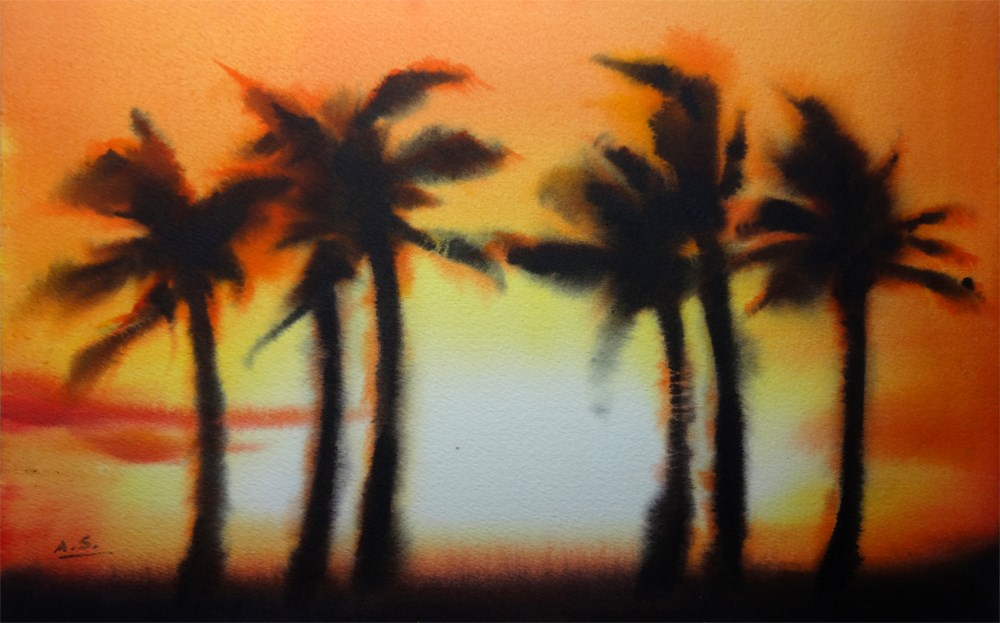 """Sunset Boulevard"" original fine art by Arena Shawn"