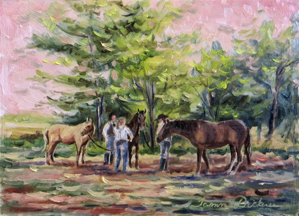 """Gathering the Horses"" original fine art by Tammie Dickerson"