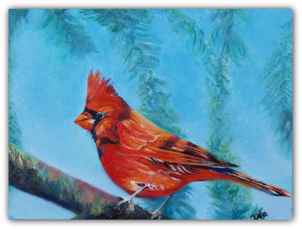 """Mr. Cardinal"" original fine art by Dana C"