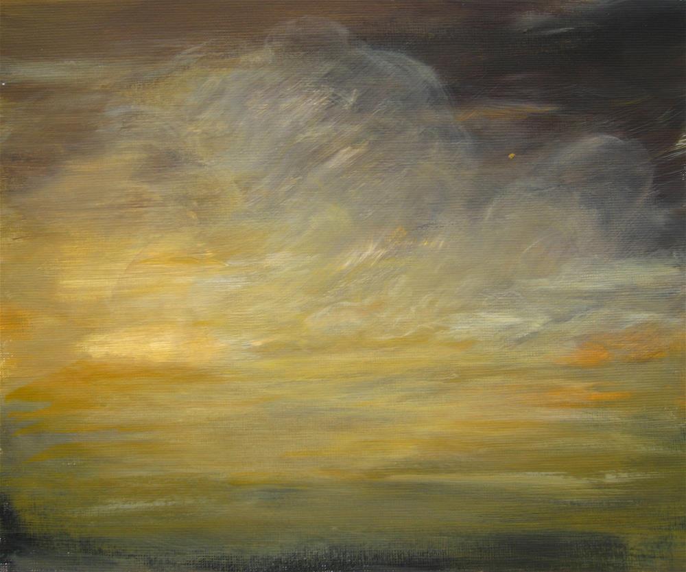 """Stormy Sky"" original fine art by Alina Frent"