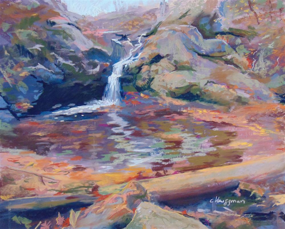 """Fredericksburg Falls"" original fine art by Catherine Kauffman"