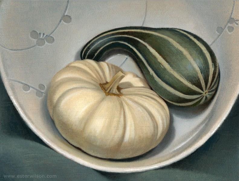 """Autumn Dish"" original fine art by Ester Wilson"
