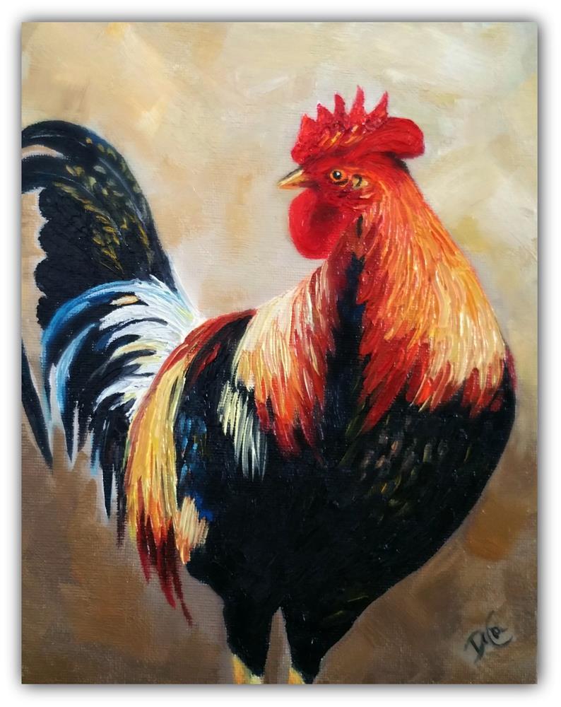 """""""Mr. Rooster"""" original fine art by Dana C"""