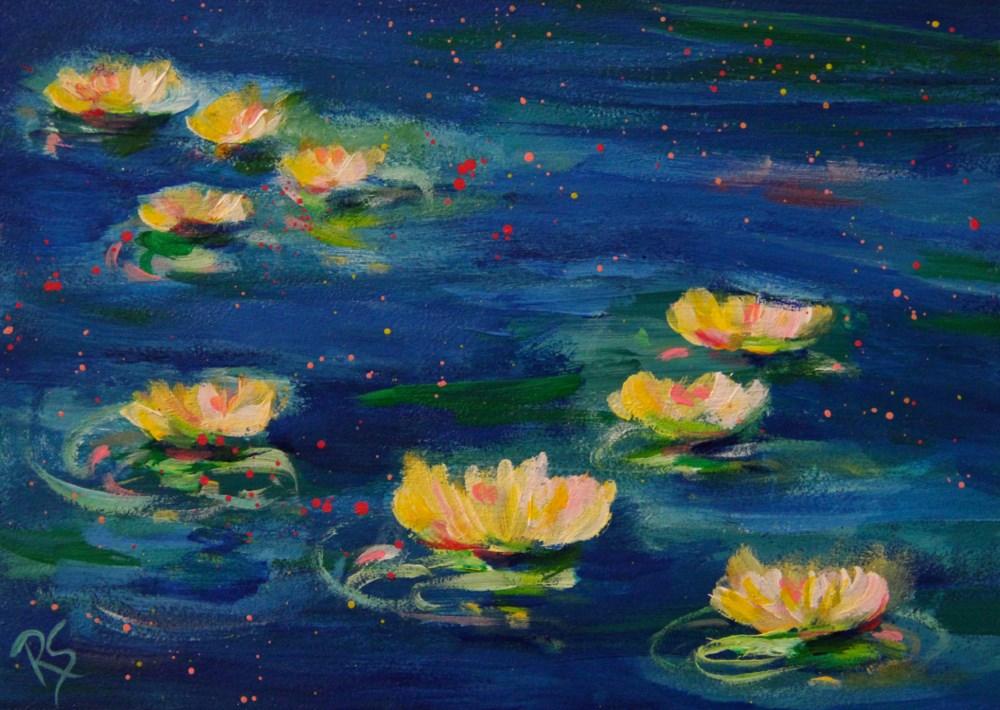 """""""Golden Dreams"""" original fine art by Roberta Schmidt ArtcyLucy"""