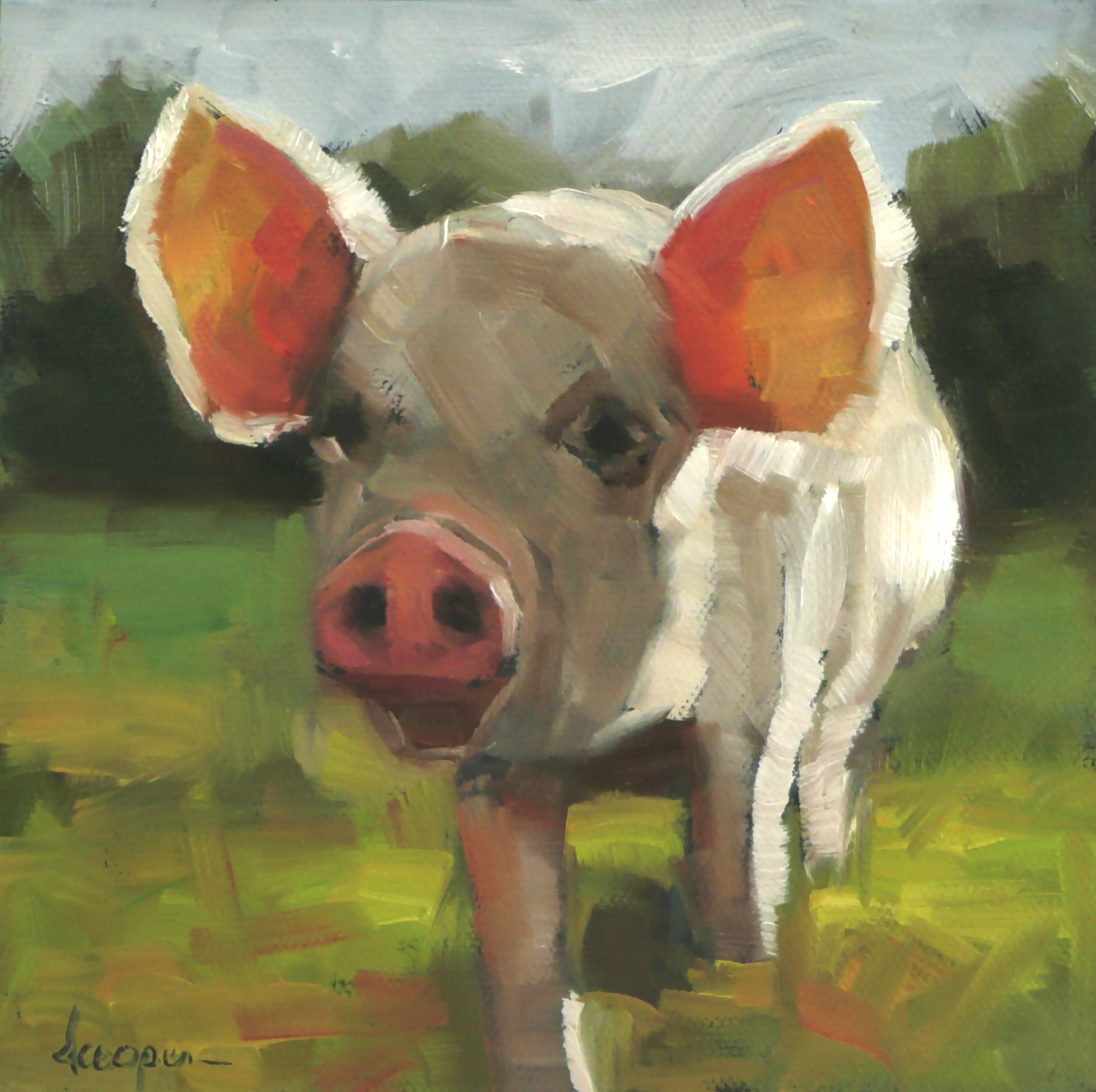 """This Little Piggy..."" original fine art by Dana Cooper"