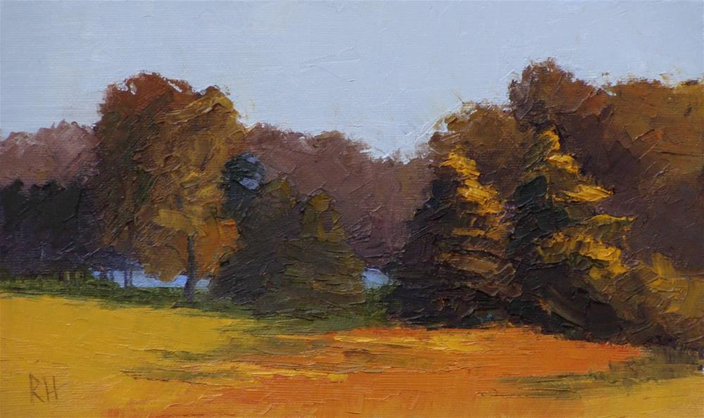 """Fields by the Lake"" original fine art by Rebecca Helton"