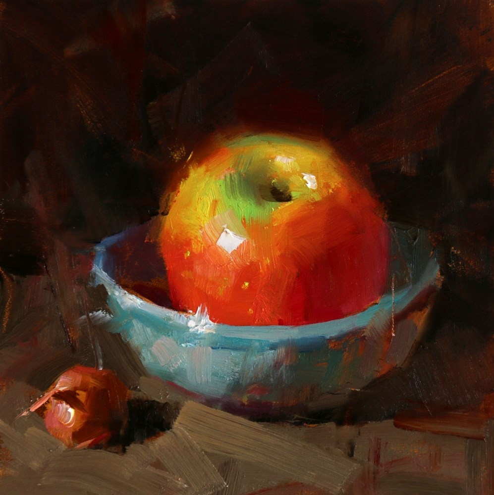 """Big Apple and Small Onion"" original fine art by Qiang Huang"