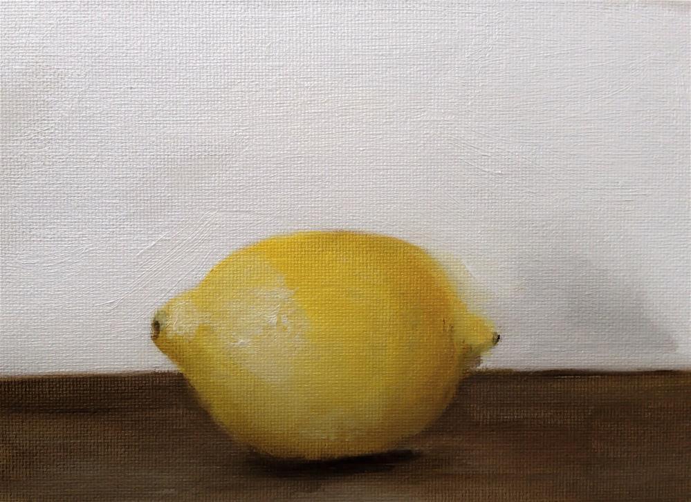 """""""Lemon"""" original fine art by James Coates"""