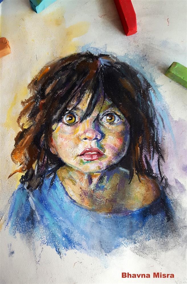 """Curious Max"" original fine art by Bhavna Misra"