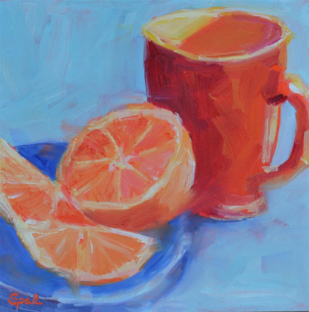 """""""Orange"""" original fine art by Suzy 'Pal' Powell"""