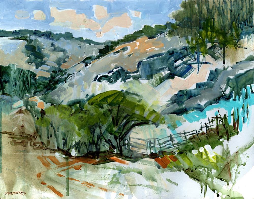 """""""Castle Rock Trail"""" original fine art by Nancy Roberts"""