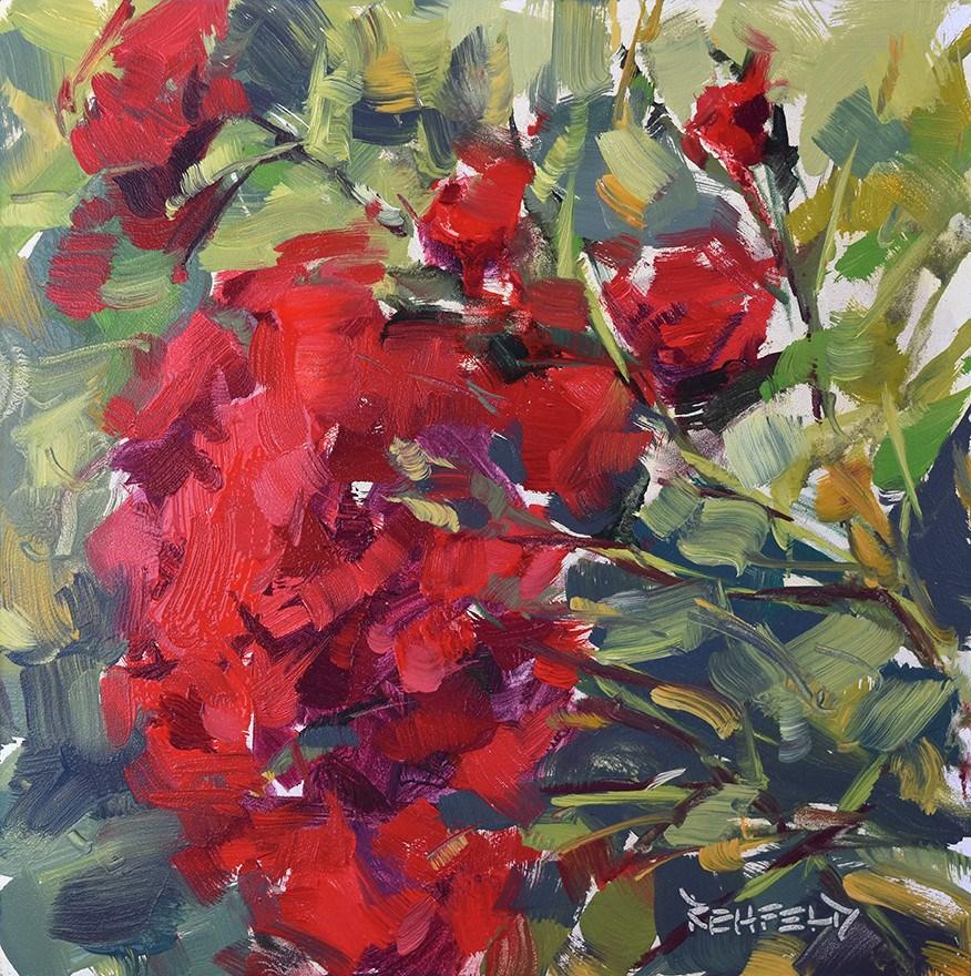 """Rainy Day Roses"" original fine art by Cathleen Rehfeld"