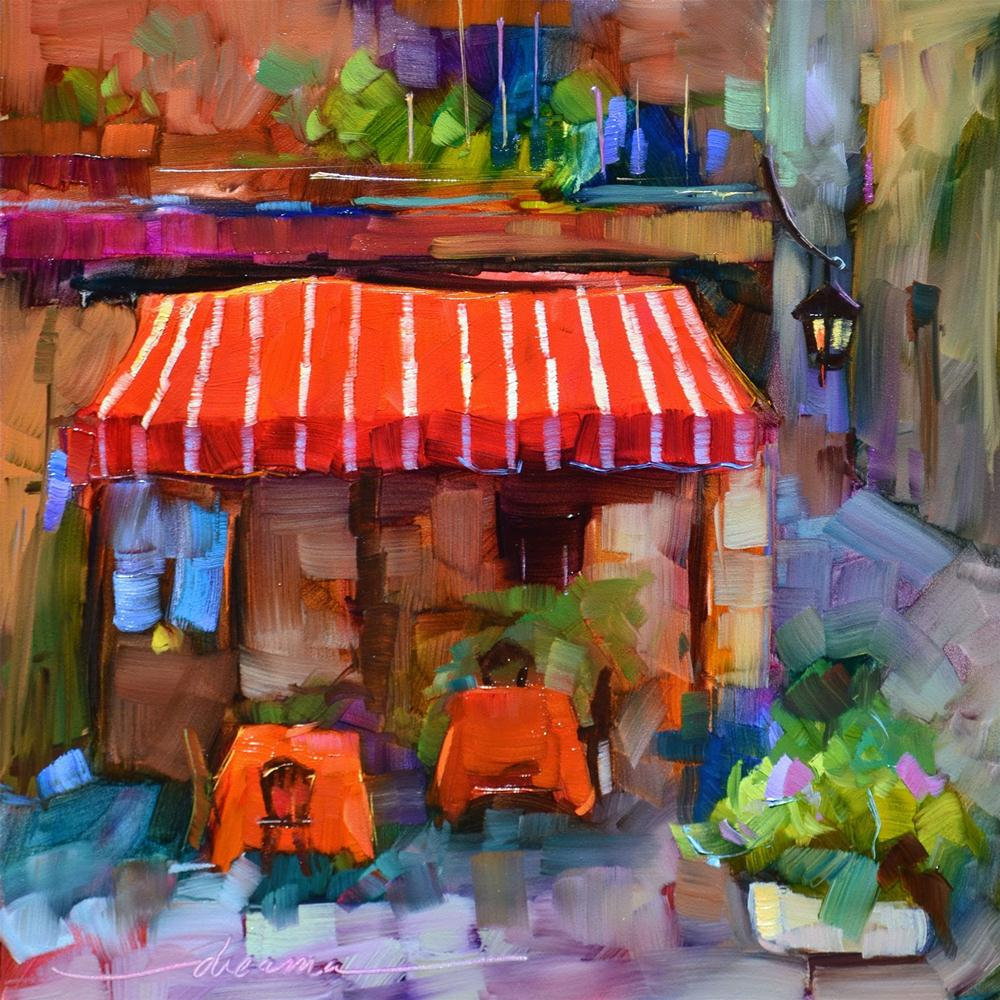 """""""Red,White and Italian"""" original fine art by Dreama Tolle Perry"""