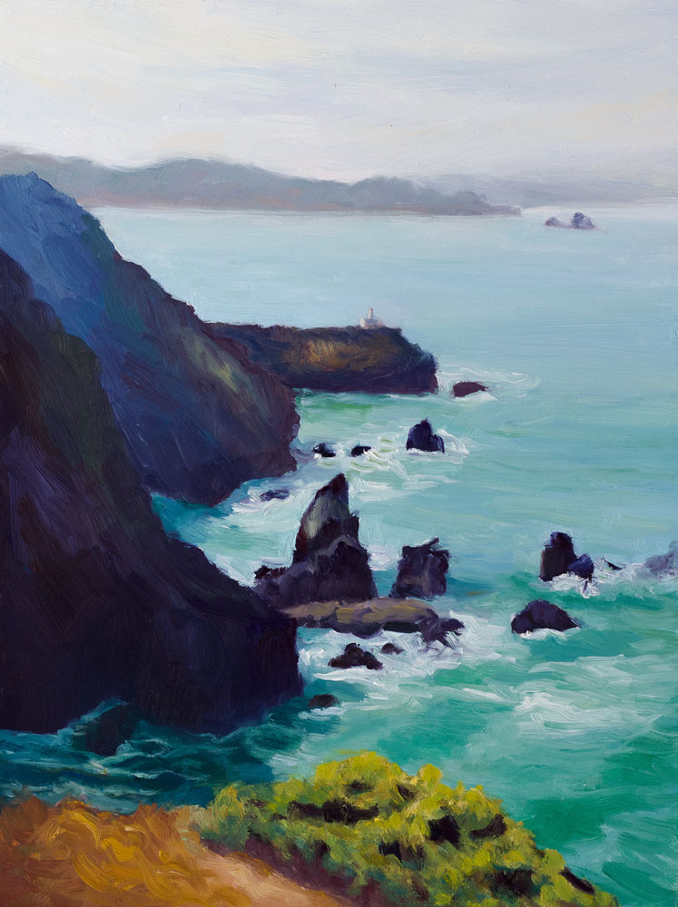 """Point Bonita #3"" original fine art by Jana Bouc"
