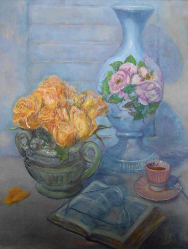"""TEA AND SYMPATHY"" original fine art by barbara yongue"