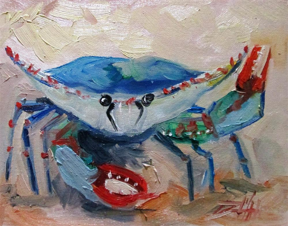 """Blue Crab No.17"" original fine art by Delilah Smith"