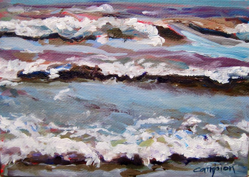 """193 Rolling In"" original fine art by Diane Campion"