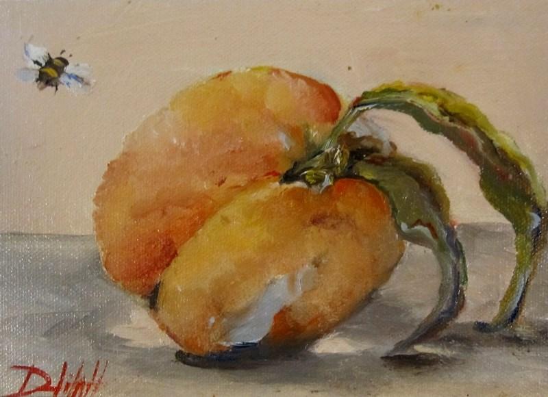 """Peach Still Life"" original fine art by Delilah Smith"