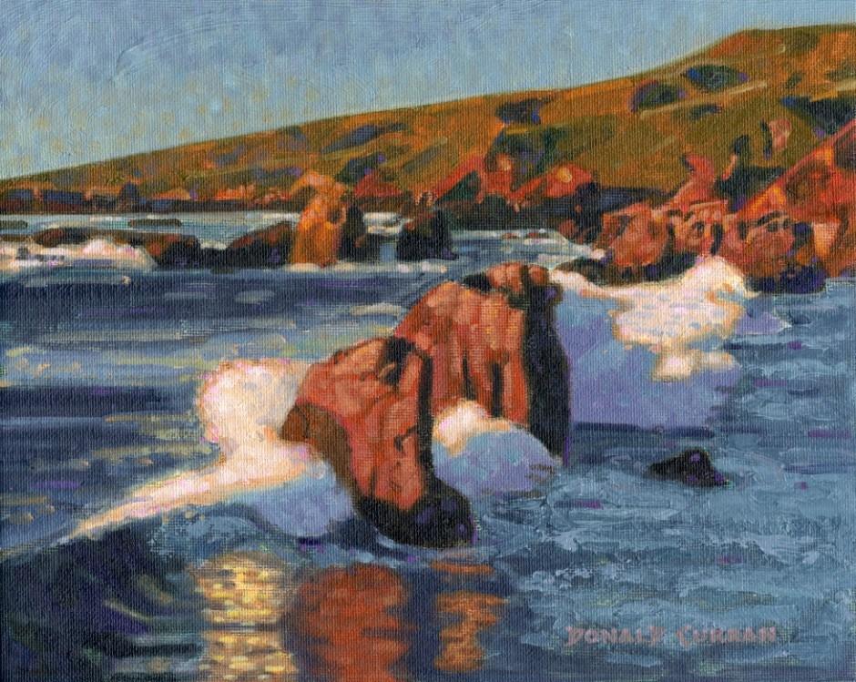 """""""Big Sur Coastline"""" original fine art by Donald Curran"""
