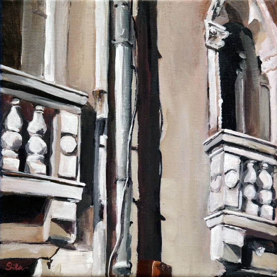 """1487 Balcony"" original fine art by Dietmar Stiller"