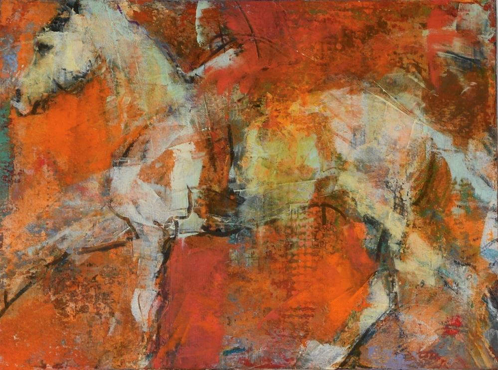 """""""Accelerate #1"""" original fine art by Jennifer Pratt"""