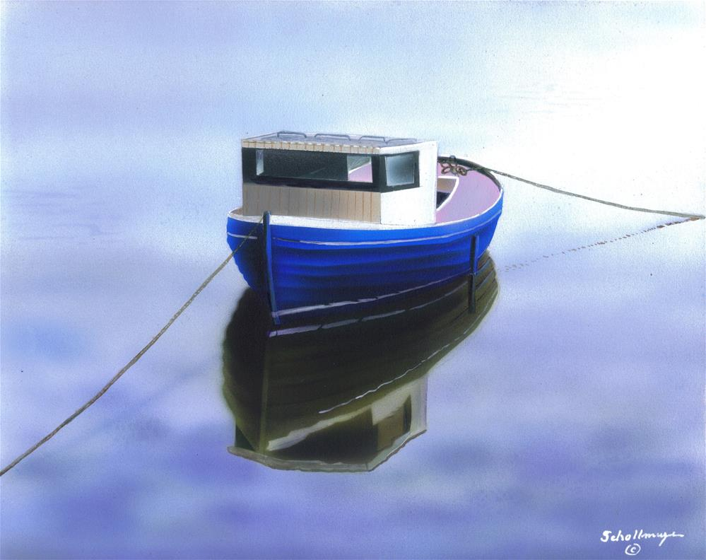 """""""Anchored Reflections"""" original fine art by Fred Schollmeyer"""