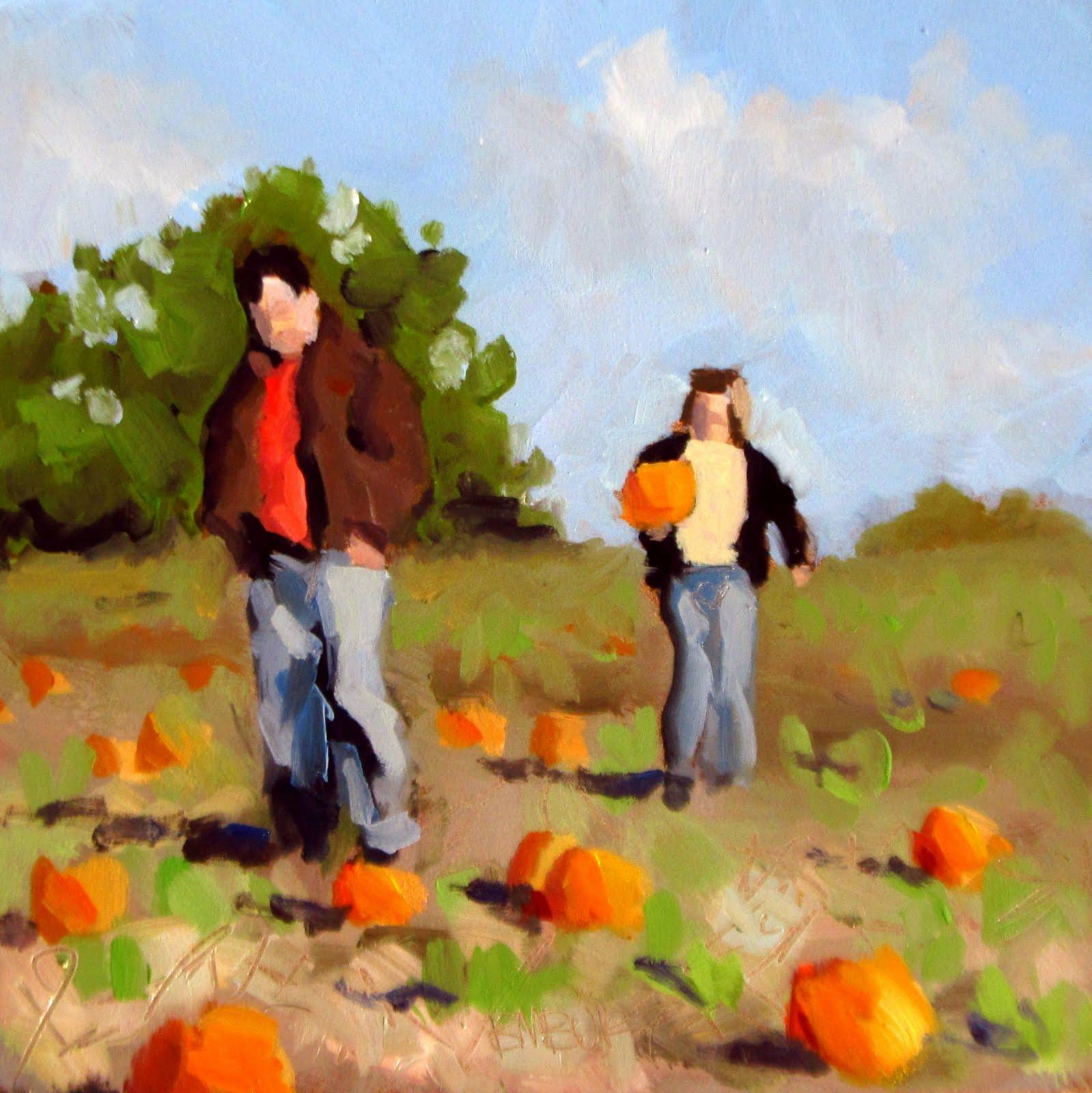 """""""DAILY DIAPER #209 The Pumpkin Patch!"""" original fine art by Brian Burt"""