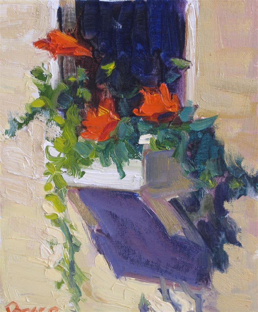 """Window Box"" original fine art by Rita Brace"