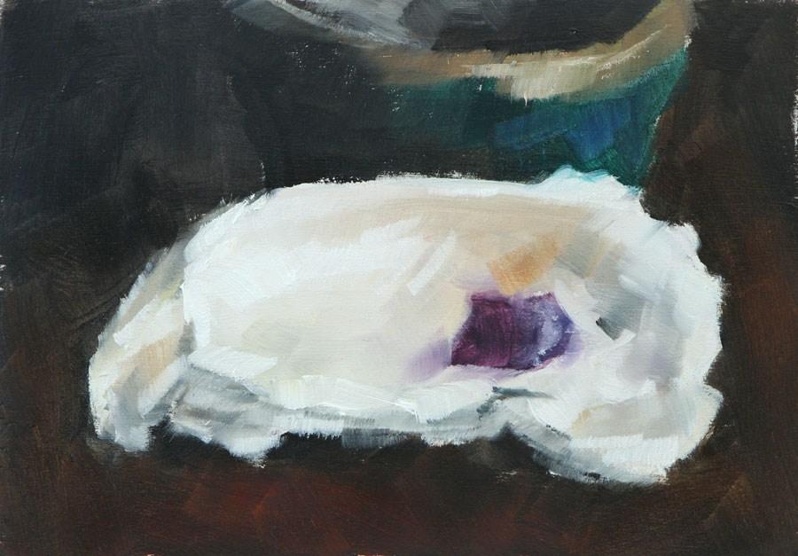 """""""Oyster Shell Paint Sketch"""" original fine art by Clair Hartmann"""