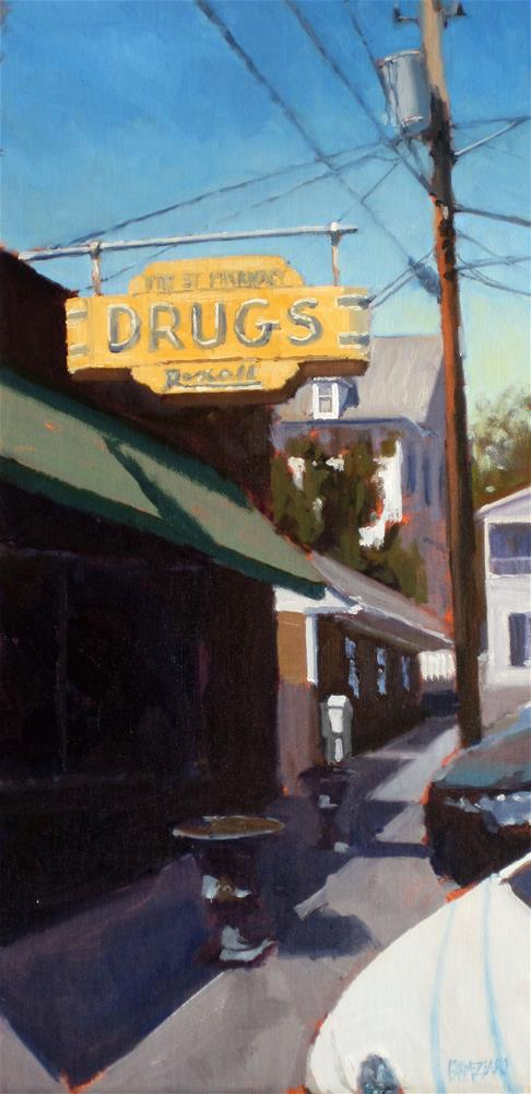 """Pitt Street Pharmacy"" original fine art by Dan Graziano"