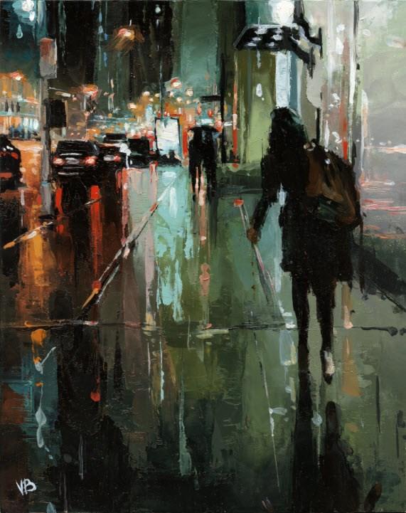"""5th Avenue NYC"" original fine art by Victor Bauer"