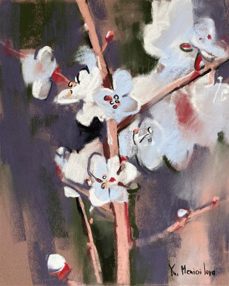 """Floral drawing"" original fine art by Yuliia Meniailova"