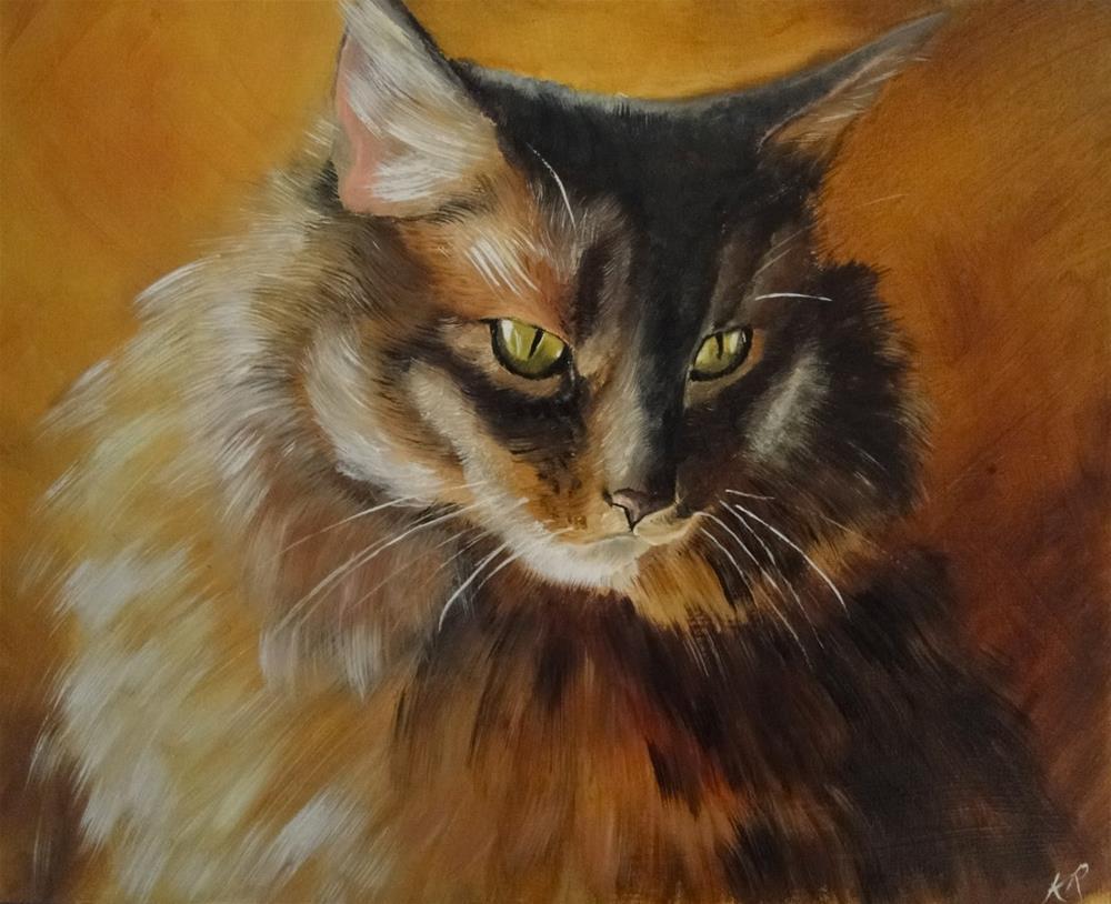 """My cat, Oscar"" original fine art by Karen Robinson"