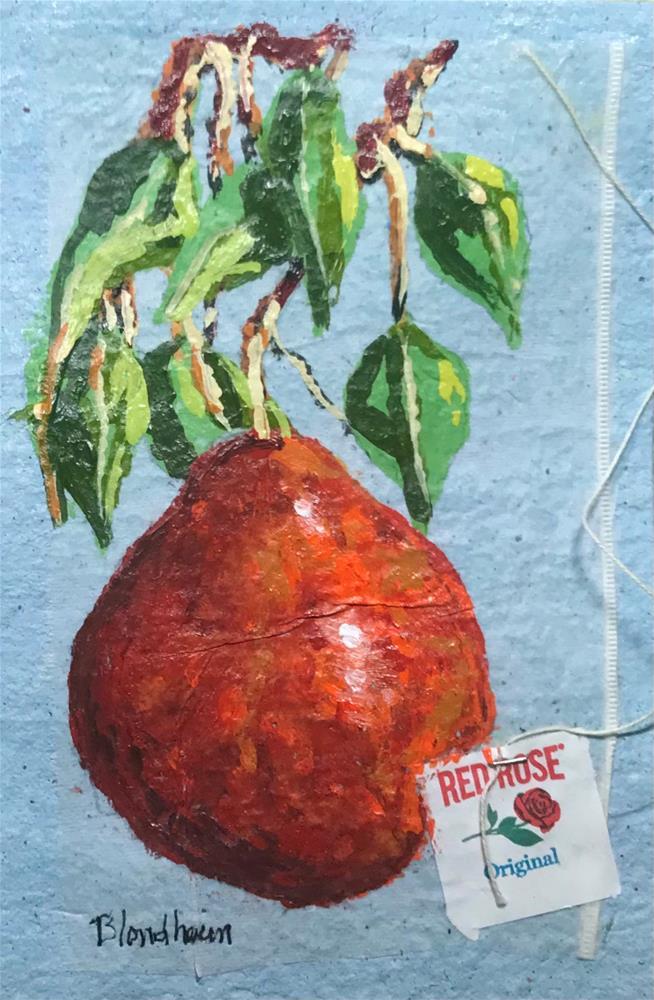 """Bartlett Pear Tree"" original fine art by Linda Blondheim"