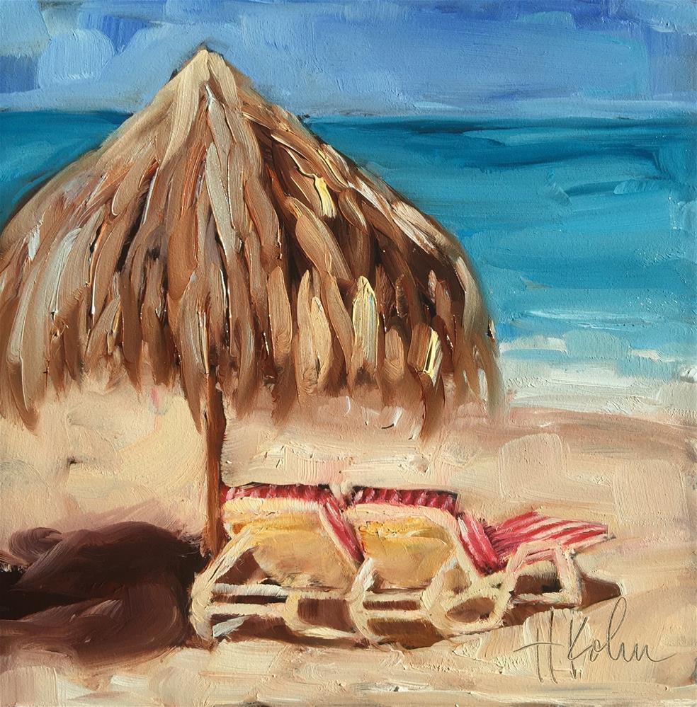 """Vacay"" original fine art by Hallie Kohn"