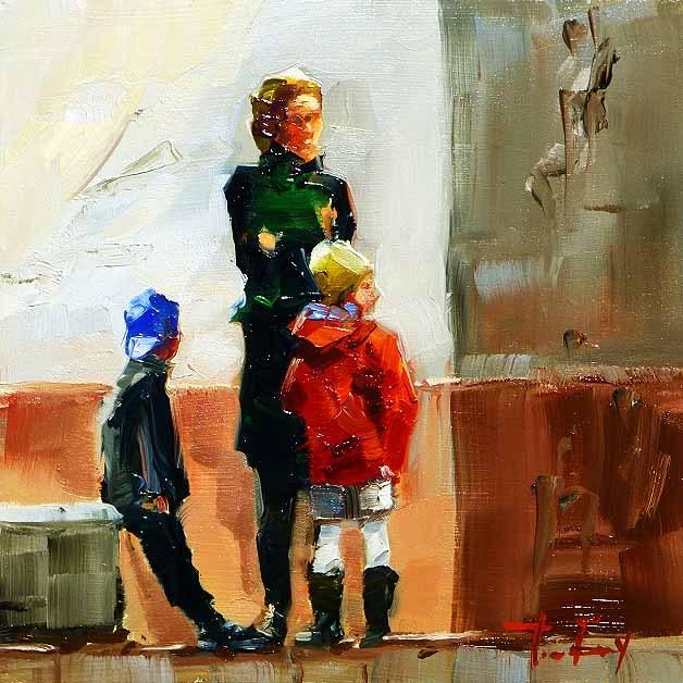 """Er kommt bald"" original fine art by Jurij Frey"