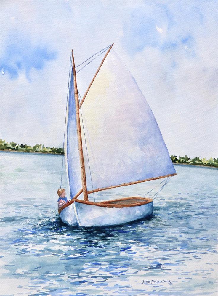 """""""Breeze Off Cataumet"""" original fine art by Judith Freeman Clark"""