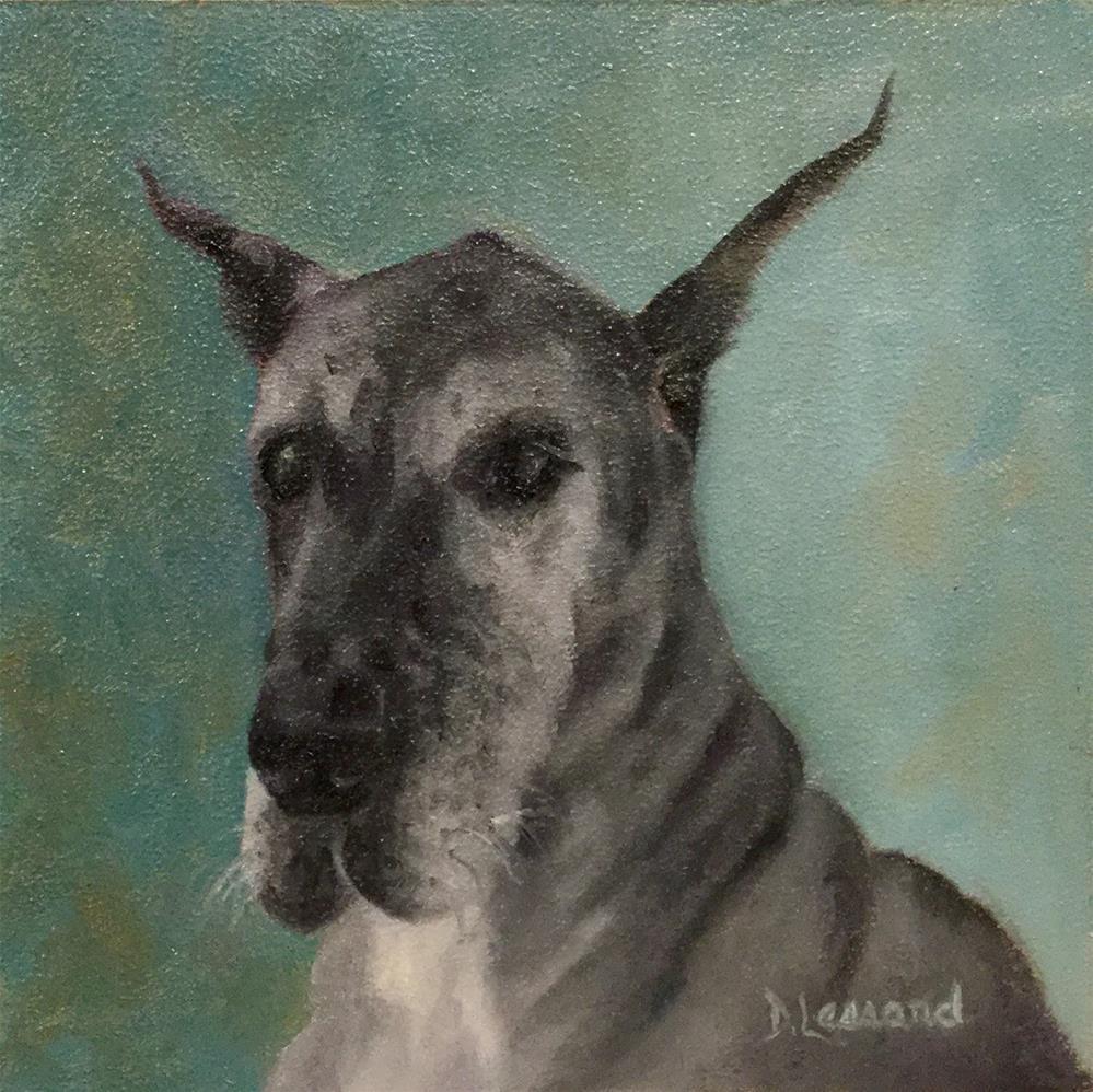 """Great Dane #1624"" original fine art by Dee Lessard"