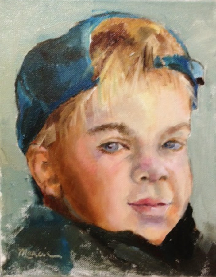 """Ross"" original fine art by Marcia Hodges"