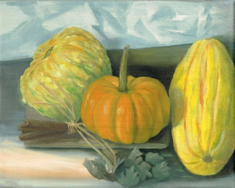 """Fall squash"" original fine art by Karen Stitt"
