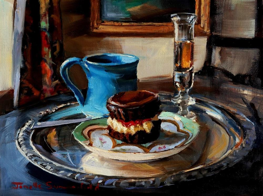 """Cupcake, Coffee and Brandy"" original fine art by Jonelle Summerfield"