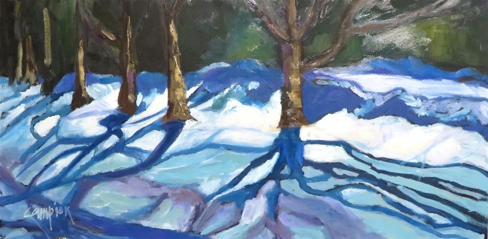 """772 Winter's Web"" original fine art by Diane Campion"