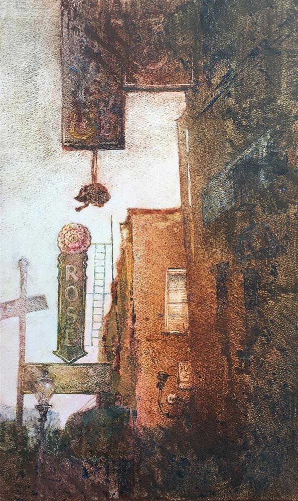 """The Fort Worth Rose"" original fine art by Robyn Jorde"